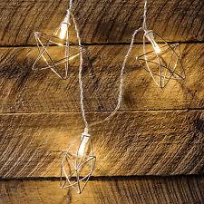 20er LED Lichterkette Stern Timer Batterie Innen Deko Beleuchtung Weihnachten