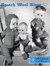 VINTAGE 1950's KNITTING PATTERN COPY - FOR 12/15/18 inch DOLLS  - BOY & GIRL SET