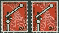 2 x Bund Nr. 219 sauber postfrisch BRD Fahrplankonferenz 1955 MNH