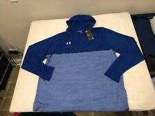 NWT $49.99 Under Armour Mens HG Tech 1/4 Zip Hoodie Blue Size 3XL