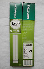 DEAL OF 2! SYLVANIA LYNX-L 18W CFLNni LAMPS WARM WHITE 2G11 BASE DIMMABLE