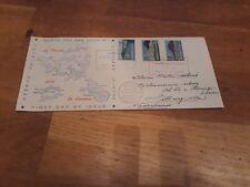 FDC E2 jr 1957 Nederlandse Antillen beschreven / weer open klep (uit partij b)