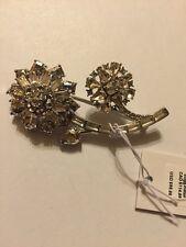 $98 SPADE NEW YORK Trellis Bloom Small Flower Brooch #MK33