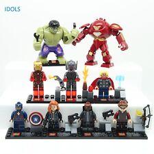 9pcs Marvel Avengers Super Heroes MiniFigure Iron man Hulk Thor Bricks Toys IEGO