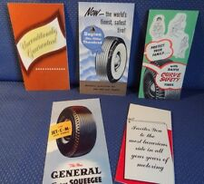 Lot of 5 different - 1950's Automobile TIRE Brochures Armstrong Dayton General