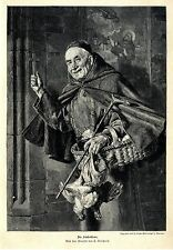 E. Grützner the klosterbine a monk Motif HISTOR. Pressure V. 1896