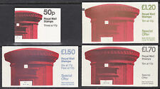 GB 1985 Booklets, FB31, FJ4, FP1 and FT5, Pillar Box series