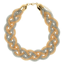 Braided Wire Mesh Choker Necklace In Gold & Silver Tone - FAST SHIP FROM USA