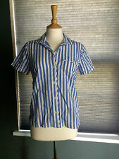 NEW GAP GAPBODY BLUE AND WHITE STRIPE SHORT SLEEVED PYJAMA TOP XS RRP £24.95