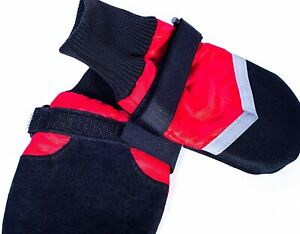 Fashion Pet All weather Boots for small dogs. XXXS Red/Black
