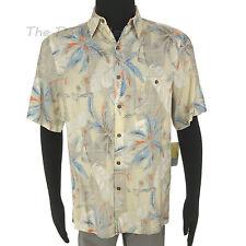 BATIK BAY Men's MEDIUM Multi-Color TROPICAL PRINT SHIRT Button Front PALM TREES
