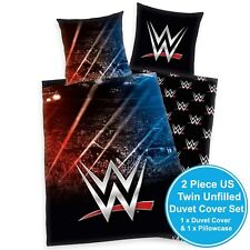 WWE STADIUM UK SINGLE/US TWIN UNFILLED DUVET COVER & PILLOWCASE SET OFFICIAL NEW
