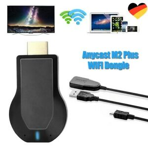 Wireless WiFi Display Dongle HD 1080P Adapter HDMI TV Drahtlos Empfänger 5V 2A