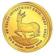 Malawi 2007 Springbock 20 Kwacha Kügerrand Motiv 0,5g. .99999er Gold PP / Proof