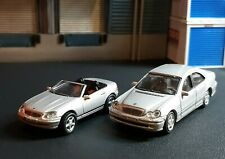 HO 1/87 SCALE MERCEDES BENZ COUPE AND SEDAN LOT SILVER