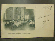 cpa italie italia florence firenza grand hotel cavour salle a manger  *