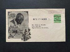 1943 GEORGE WASHINGTON CARVER MOURNING ! OAKLAND CA PRECANCEL BLACK AMERICANA