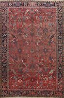 Antique Geometric Traditional Area Rug Wool Hand-knotted Oriental Carpet 8x11