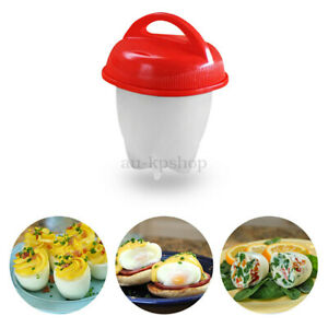 3/6Pcs Hard Boil Cooker Poacher Kitchen Tools Silicone Eggs Cup Steamer Au New