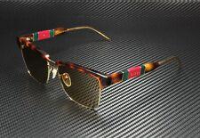 GUCCI GG0603S 006 Square Havana Gold Havana Brown 56 mm Men's Sunglasses