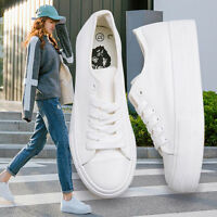Womens plimsolls Canvas Platform Creepers Slip On Casual Student Sneakers Shoes