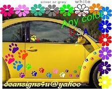 Big 40 Paw Print large SET Car tiger cougar cat dog pet Rainbow Any color USA