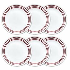 NEW Corelle Livingware 6 Piece Dinner Plate Set Ruby Red FREE SHIPPING