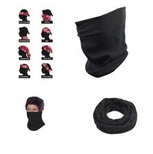 Motorcycle Multifunction Head Wrap neck tube scarf Mask A Black