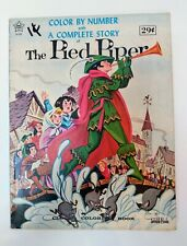 Vintage 1960's Color By Number THE PIED PIPER with Complete Story