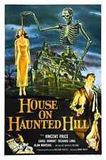 House On Haunted Hill Poster 01 A2 Box Canvas Print