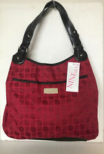 NEW! NINE & CO NINE WEST THOMPKINS BRICK RED ESPRESSO SHOPPER HOBO BAG PURSE $49