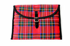 I PAD CARRY CASE COVER IN ROYAL STEWART PADDED BUCKLE SCOTTISH MADE SALE