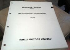 1988 - 1991 HOLDEN RODEO TF Factory Manual -  Heating & Air Conditioning