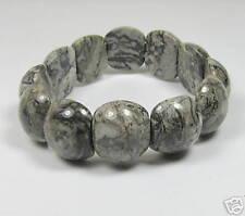 "Beautiful Genuine African Snowcap Jasper Gemstone Bracelet 7""      JASB12"