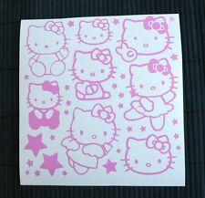 Kit 8 Adesivi Hello Kitty e 26 Stelline auto moto scooter baby decal vynil