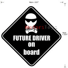 1PC Funny JDM Future Driver Baby On Board High Quality Vinyl Car Sticker Decal