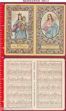 1425 Santino Holy Card Pocket Calendar 1962 Sacred Heart of Jesus distinct