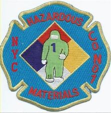 New York City Fire Department Haz Mat 1 Hazardous Materials Patch