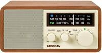 New SANGEAN AM FM Bluetooth Wooden Cabinet RADIO w/ USB & Aux WR-16 Free Ship!