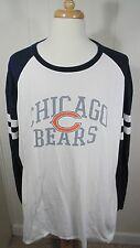 Chicago Bears Long Sleeve T-Shirt Men's 3XL NFL Team Apparel White&Blue