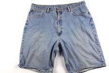 Vintage 90s RALPH LAUREN Mens 40 Spell Out Hip Hop Streetwear Baggy Denim Shorts