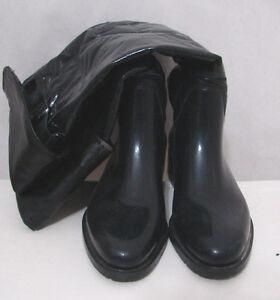 VIALACTEA Black Rubber Boots Italy 41