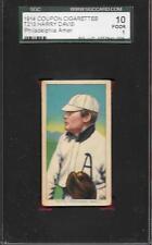 T213-2 COUPON HARRY DAVIS PHILADELPHIA 1914 CARD w/ T206 IMAGE GRADED SGC 1 POOR