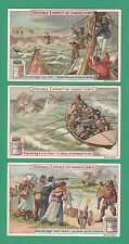 LIEBIG - SET OF 6 CARDS -  S 604  /  F 604  - SEA  RESCUES  -  1899