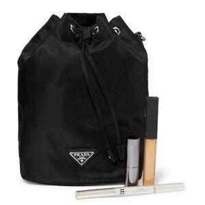Black Fabric Bucket makeup Case cosmetics VIP GIFT