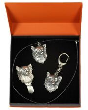 Chihuahua - silver covered keyring, pendant, clipring, set with dog, Art Dog