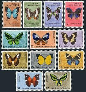 Papua New Guinea 209-220,MNH.Michel 83-94. Butterflies 1966.Blue emperor,Terinos