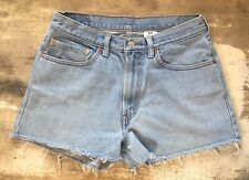 VINTAGE LEVIS 550 Denim CUT OFF Shorts Size 32 (14)