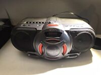Sony boom box with cassette tape, Cd, Power Drive Woofer Model # CFD-G35