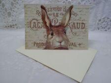Klappkarte-Geschenkkarte-Grußkarte-Vintage-Retro-Shabby-French-Ostern-Hase-10029